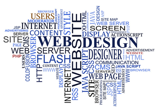 word cloud for web design